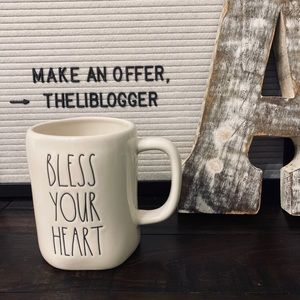 NWT Rae Dunn BLESS YOUR HEART Mug